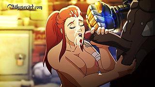 overwatch hentai handjob animation