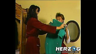 Hot retro babes massage each others pussies