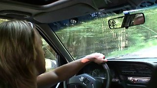 70 yo grandma getting nailed in the car