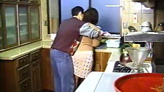 Neighbor Boy Attacked and Fucked Japanese Mature Housewife In Kitchen