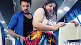 Indian Sexy Aunty Fucking Ass with Stranger In Bus