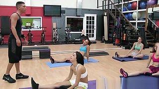 Bendy gym teens fucked