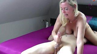 D!rty-Tina - XXL Sperma Explosion - Hand und BlowJob