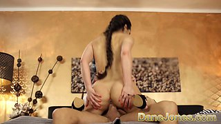 Dane Jones Huge cock spreads Monica Browns tight young pussy wide open