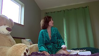 Mommy shows sister what diaper boy needs