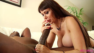 Hot MILF with big tits loves BBC
