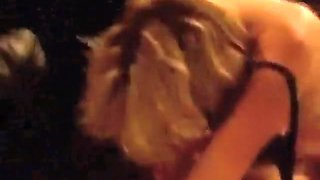 Fat blonde usa girl dryhumps a nerd and puts her big boobs in his face