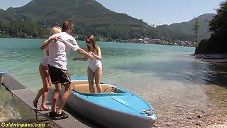 extreme wild public family therapy beach orgy