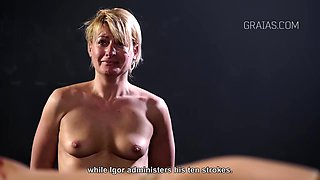 Blonde punished for her failure