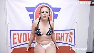 Naked Sex Wrestling With Carmen Valentina Against Sam Having Pussy Licked In Hot Facesitting For Winner