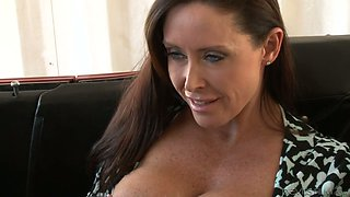 Busty MILF Christina Carter let her man fuck yummy ginger slut in their car tough