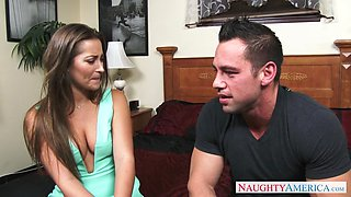 dani daniels is seducing her friend's brother and kissing with him
