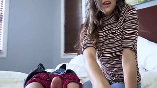 Innocent Sleeping Daughter Fingered by Her Step Daddy