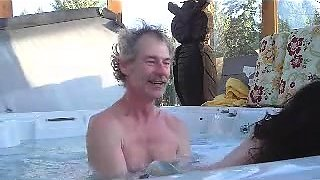 Slutty amateur wife gets pounded doggystyle in the hot tub