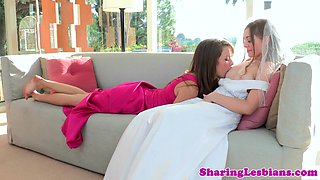Bride Aurielee Summers seduced by bridesmaids