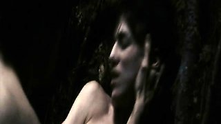 Charlotte Gainsbourg naked as she rides a guy, briefly