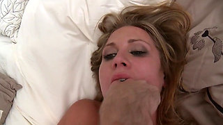Horny blond enjoying office sex