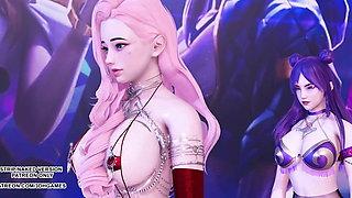 HYUNA – Roll deep, Ahri Kaisa Seraphine, League of Legends KDA