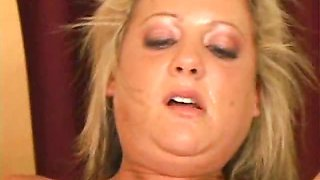 Hot blond pornstar with pierced belly Sophia jumping a