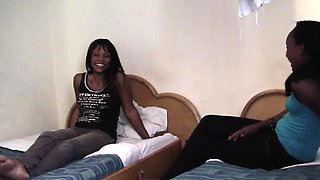 African lesbians Alishaand Virgin share the same room and