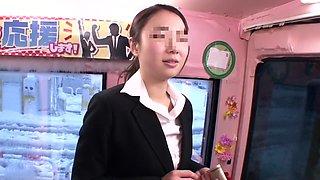 Horny Japanese whore Amateur in Exotic panties, bus JAV scene