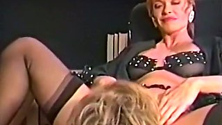 Lovely redhead milf judge and a witness start lesbian action