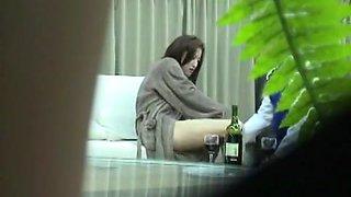 Horny Japanese chick Reina Kato in Amazing Voyeur, Blowjob/Fera JAV movie