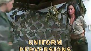 British Lesbians in Uniform - Soldier, Schoolgirl, Fetish, Office, Nurse
