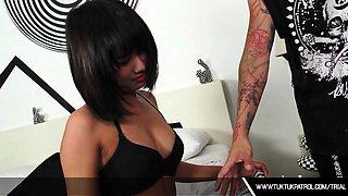 Horny Thai Whore Sucks Cock