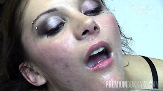 Michelle swallows 74 huge mouthful cumshots