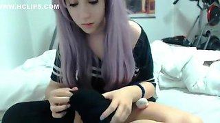 Amazing amateur Webcam, Emo adult clip