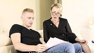 TUTOR4K. Teacher of Russian language to have hard sex