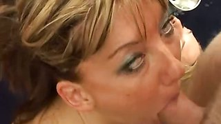Amateur facials and cum swallowing with a funnel