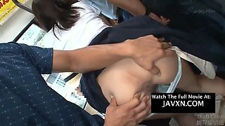 Hot japanese teen gets groped on the bus and fucked hardcore