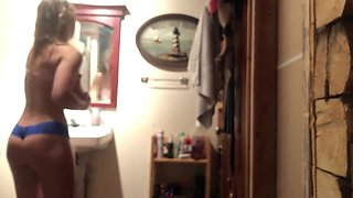 REAL 18yo sister caught on hidden spy cam in the shower! Requests are open!