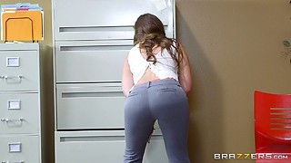 Bootylicious Maddy O'Reilly is happy to get bonked right in the office