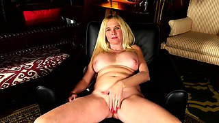 Horny American housewife fooling around