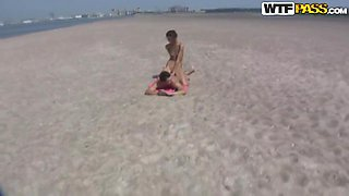 Skinny babe Dasi West gets shagged on the beach