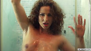 Shower with Ywette! MILF SEXUAL EXPERIENCE