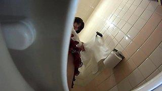 Asian whores urinating