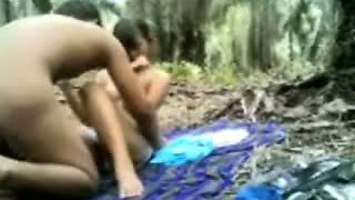 Indonesian college students fuck hardcore outdoor