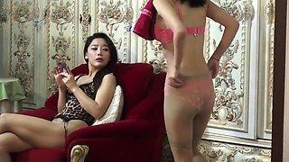 Korean lesbians scissoring