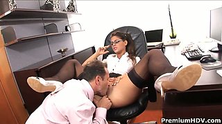 Sexy Secretary Valetina Rossini dreams of  pussy licking