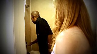 Horny blonde mom invites a black stud to fulfill her needs