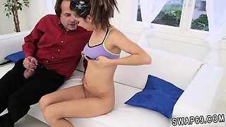 Real mother patron's daughter casting couch and strapon