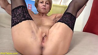 75 years old grandma first time on video