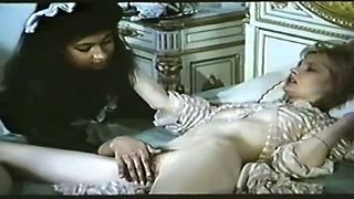 Horny boyfriend fucks black booty of a housemaid when she bends over