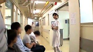 Naughty Japanese nurses take on a gang of raging cocks