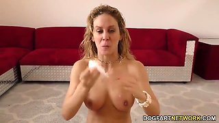 Gives Oral Sex To A Sex Orgy Of Black Guy With Cherie Deville