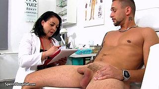 Sexy Brunette Nurse Marcia
